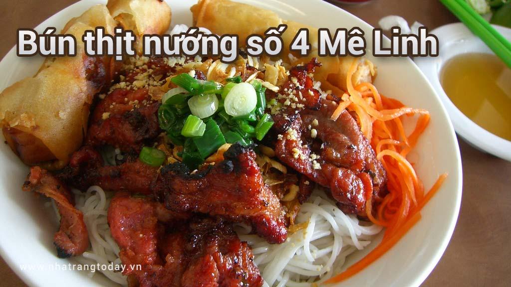 Bún thịt nướng số 4 Mê Linh Nha Trang