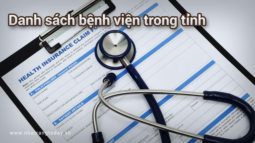 Danh sách các bệnh viện trong tỉnh Nha Trang Khánh Hoà