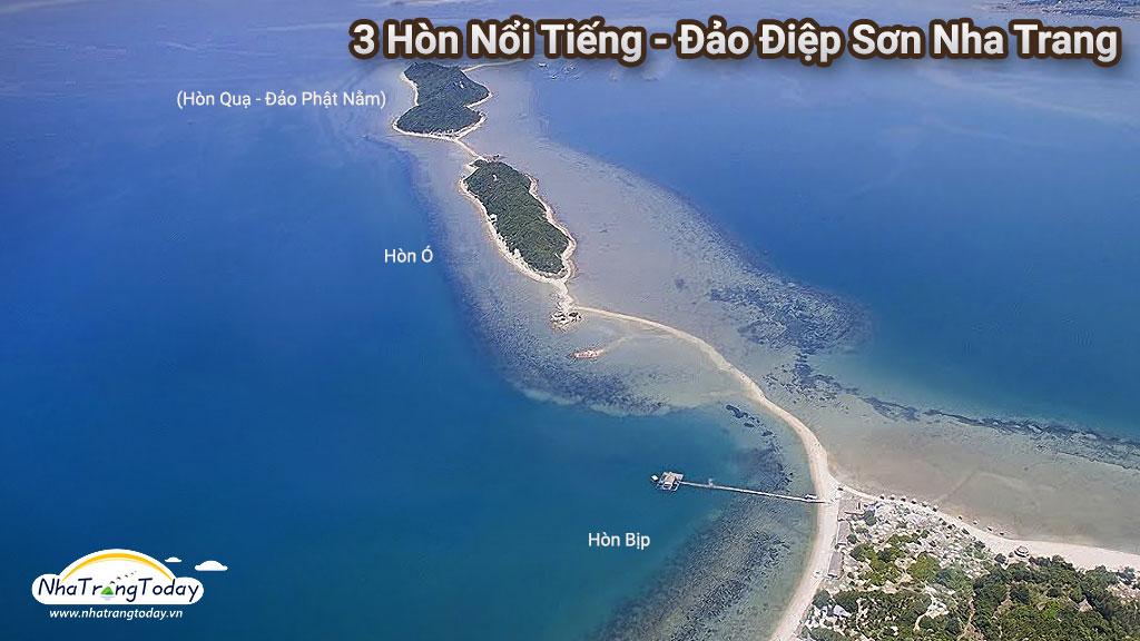 3 hòn đảo trong dãy Điệp Sơn