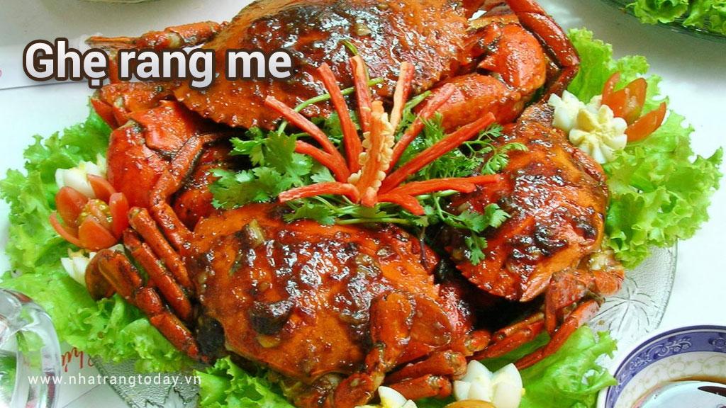 Hấp dẫn món ghẹ rang me Nha Trang