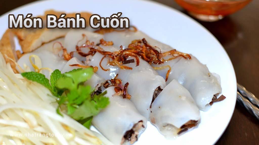 Món Bánh cuốn đặc sản Nha Trang