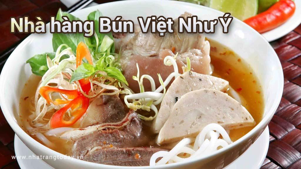 Nhà hàng Bún Việt Như Ý Nha Trang