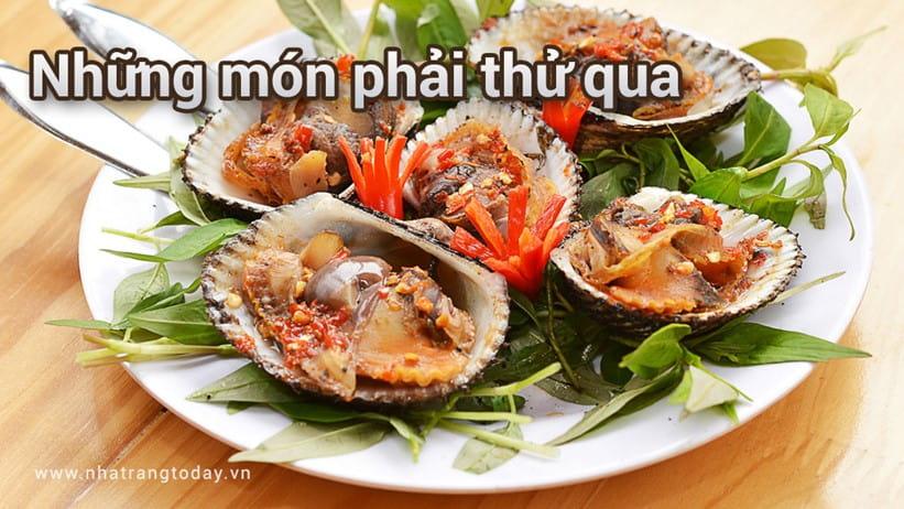 Những món phải thử qua khi đến Nha Trang