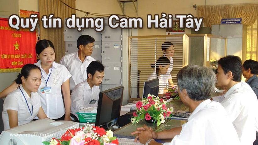 Quỹ Tín Dụng Nhân Dân Cam Hải Tây Nha Trang