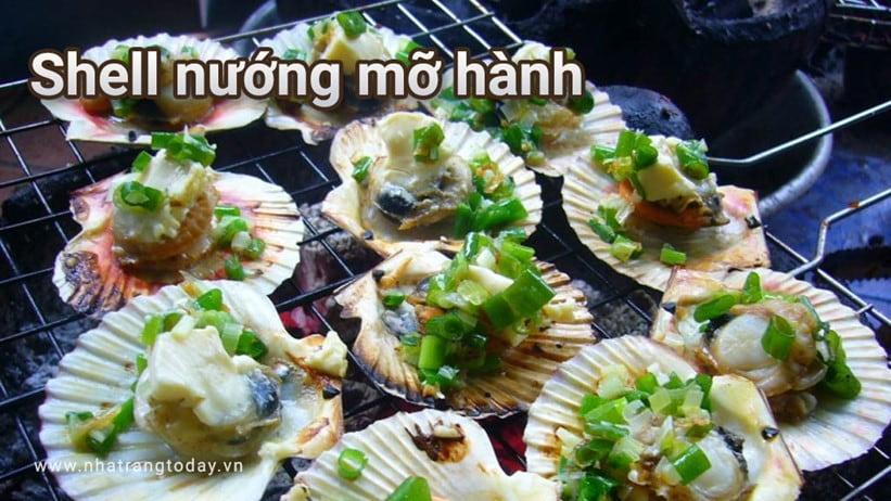 Shell nướng mỡ hành ngon ngon khó cưỡng Nha Trang